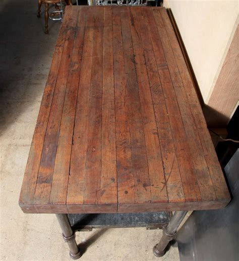 vintage kitchen work table vintage industrial kitchen work table at 1stdibs