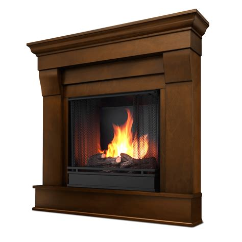 real chateau corner ventless gel fireplace in espresso