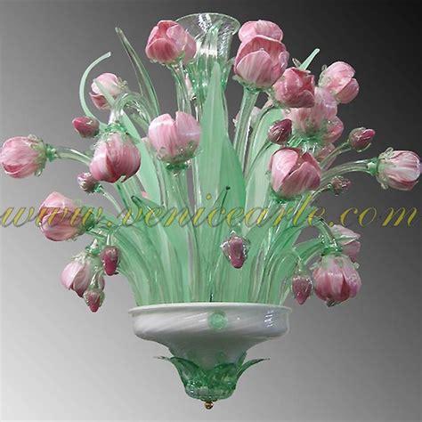 Murano Flower Chandelier Murano Glass Chandeliers Tulips