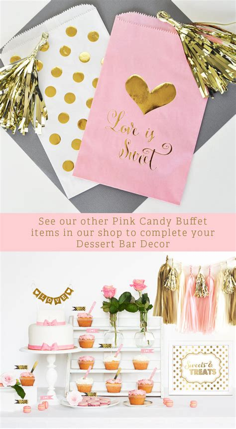 pink bridal shower gift bags pink and gold wedding favor bags pink and gold bridal shower