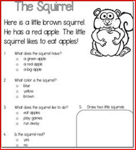 Reading Comprehension With Choice Questions Worksheets by Reading Passages For 5th Grade With Choice