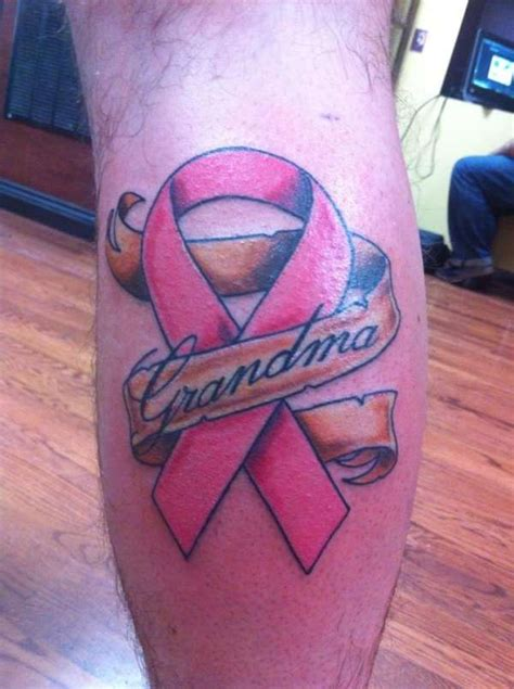 pink ribbon tattoos for men cancer