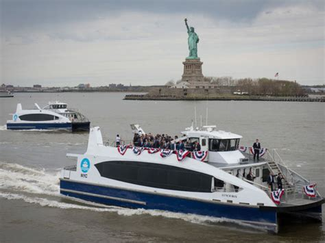 catamaran ferry parking new nyc ferry to lower manhattan from the bronx no