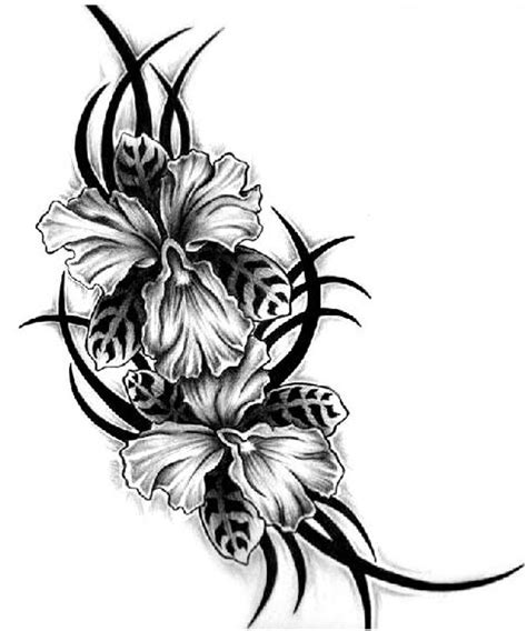 three flower tattoo designs aiz gallery black flower for