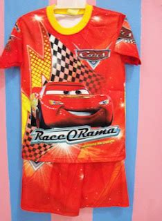 Piyama Anak Size 2 7 T Jw 38 F Superman Baju Tidur K Limited grosir baju anak kaos the cars 2