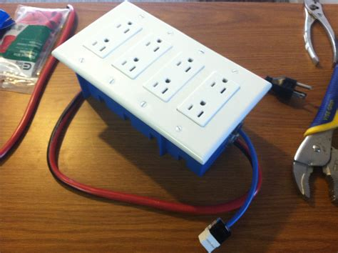 diy power strip box diy usb power bar diy do it your self