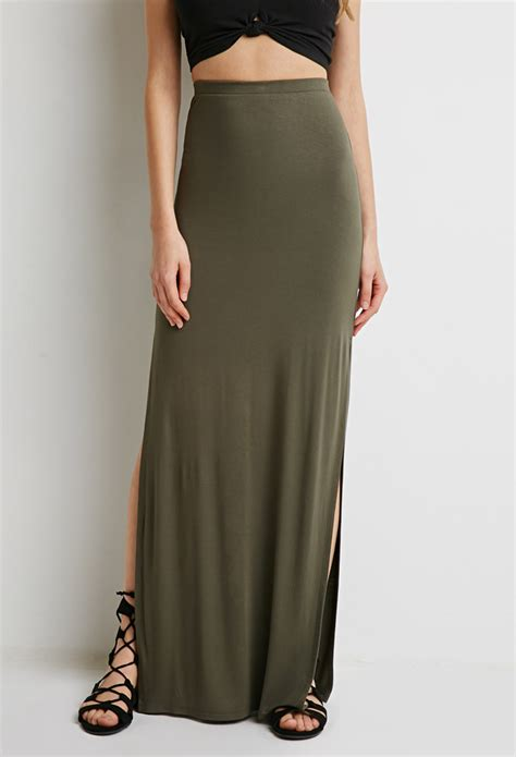 forever 21 side slit maxi skirt you ve been added to the