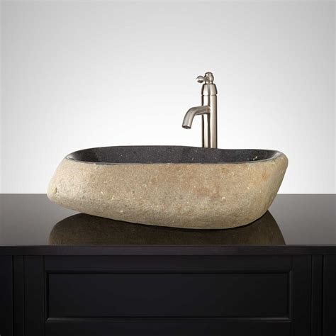 new bathroom sink kallik black river stone vessel sink new bathroom sinks