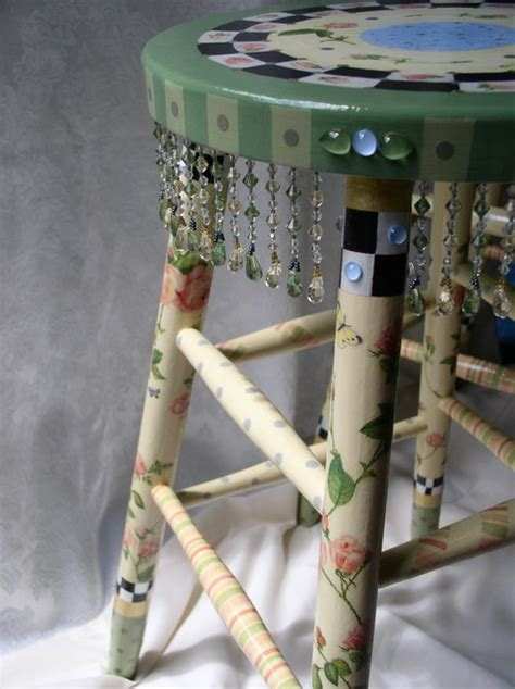 hand painted whimsical stool furniture  york