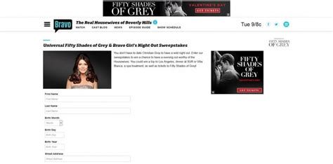 Bravo Sweepstakes - universal fifty shades of grey and bravo girl s night out sweepstakes bravotv com
