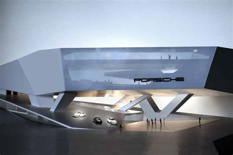 porsche museum structure aedes gallery berlin unstudio exhibition e architect