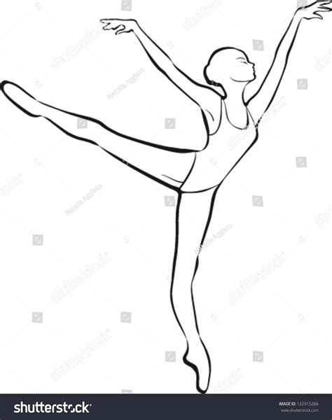 Dancer Outline by Silhouette Ballet Dancer Stock Vector Illustration 122915266