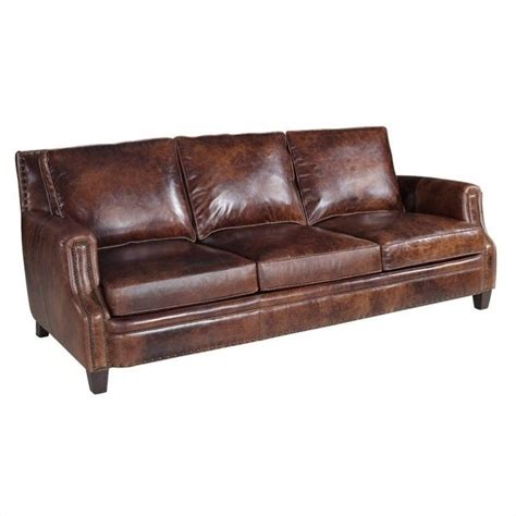 hooker leather sofa hooker furniture leather stationary sofa in parthenon