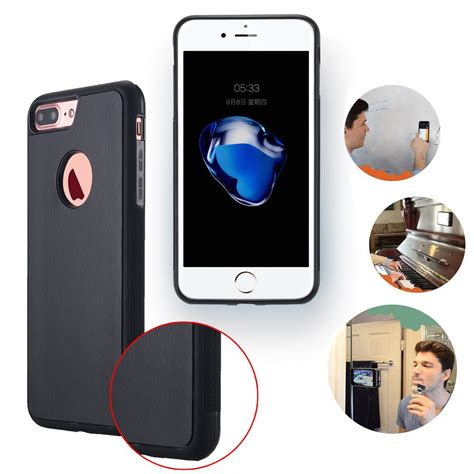 Sticky Iphone 10 anti gravity nano suction sticky selfie phone cover for iphone x 7 plus 6s ebay