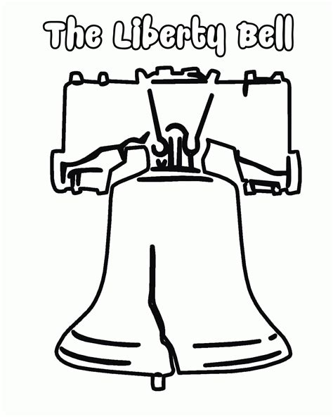 Liberty Bell Coloring Page Printable liberty bell coloring page printable coloring home