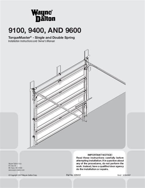 wayne dalton garage door opener 9600 user s guide