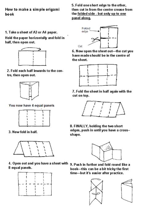 How To Fold A Paper Into A Book - lovemybooks free reading resources for parents