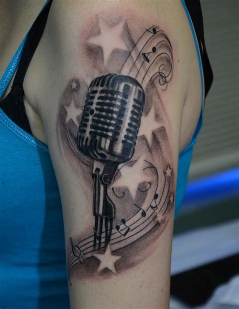 studio microphone tattoo designs vintage microphone by rafael marte tattoos