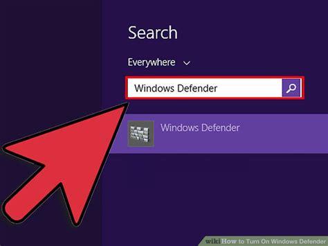 windows 8 defender turn on 3 ways to turn on windows defender wikihow