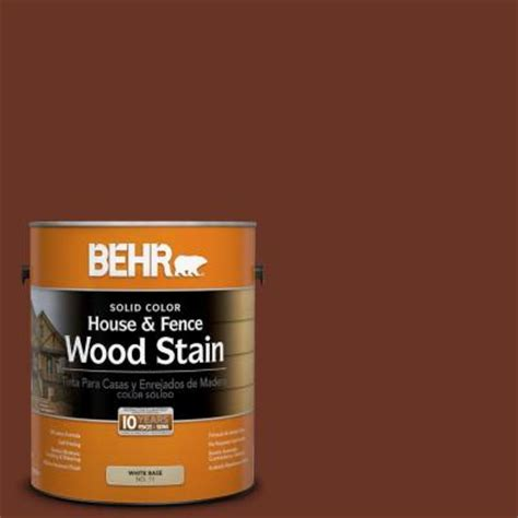 behr 1 gal sc 118 terra cotta solid color house and fence wood stain 03001 the home depot