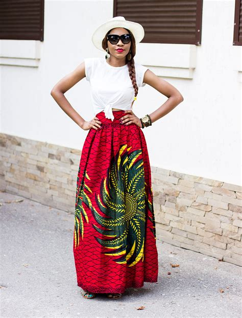ankara skirts styles long african full maxi skirt outfit inspiration with hat
