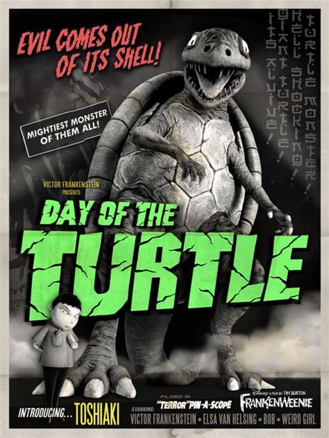 frankenweenie turtle monster poster  fanatic
