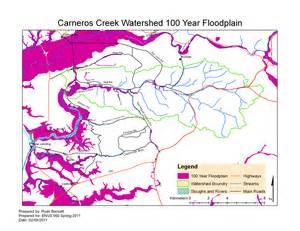100 year floodplain map carneros watershed map of carneros watershed 100 year