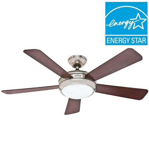 ge treviso ceiling fan ge treviso 52 in brushed nickel indoor led ceiling fan