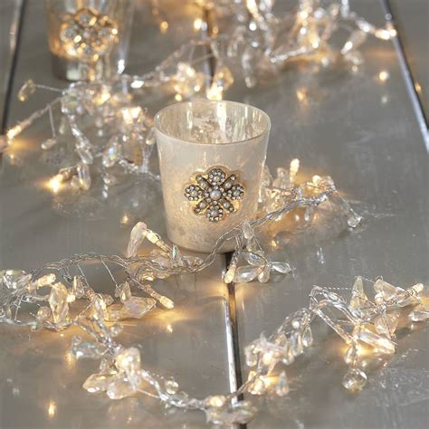clear crystal led light garland 28 best beaded garland lights 2 7m cream beaded
