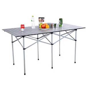 portable aluminum roll up table folding cing outdoor