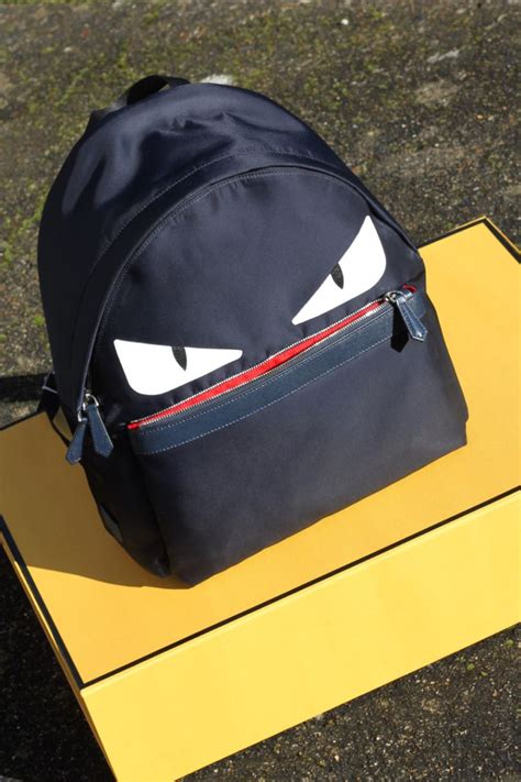 Fendi Kulit Green navy fendi backpack with on a yellow box