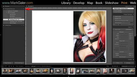 lightroom print templates and save contact sheet to pdf