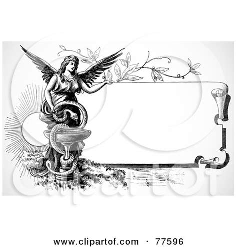 Black And White Interior Decor Black And White Scroll Sign With An Angel And Snake