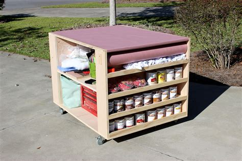 work bench with storage diy portable workbench with storage free plans