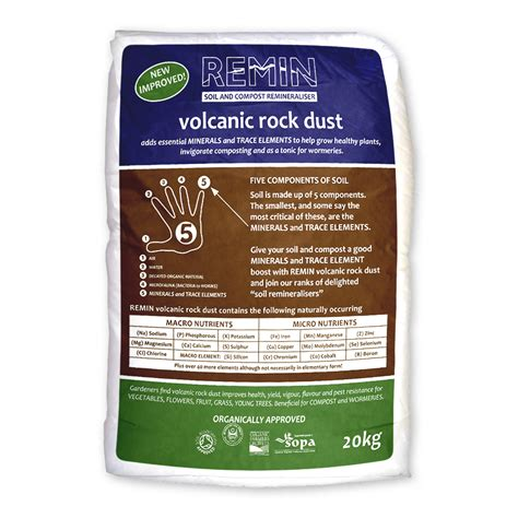 Rock Dust Gardening Remin Volcanic Rock Dust 20kg Rock Dust Gardening