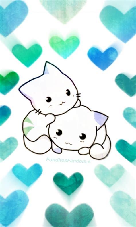 imagenes de fondo de pantalla kawaii fondo de pantalla de gatitos kawaii ig fonditosfanfom