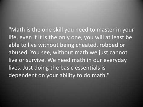 Why Mat Is Necessary why math is important