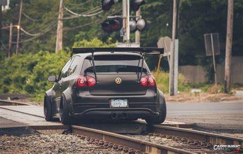 stanced volkswagen golf stanced volkswagen golf mk5 wide body rear