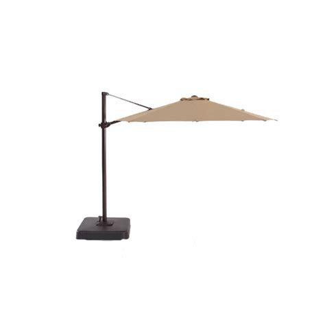 Patio Umbrellas At Lowes Shop Allen Roth Patio Umbrella With Tilt And Crank Actual 118 In At Lowes