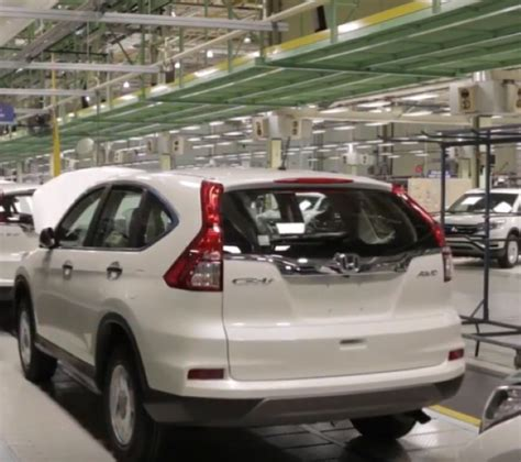 Honda Cr V Production by Honda Cr V Production Factory Plant Dpccars