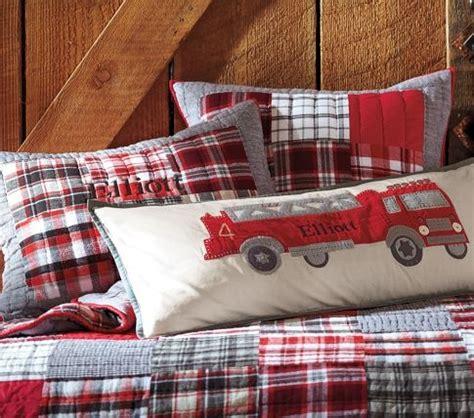 Firetruck Pillow by Firetruck Pillow Boys Room Pottery
