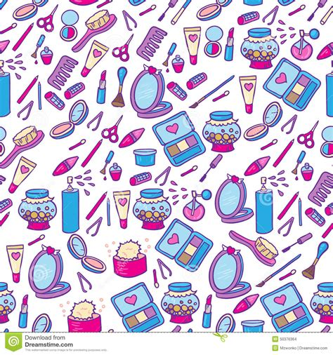 makeup pattern wallpaper fashion makeup pattern stock illustration image 50376364