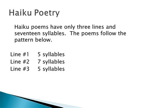 theme line definition haiku tanka cinquain and diamante ppt video online
