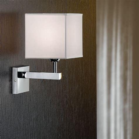applique con paralume thor lada da parete design moderno illuminazione