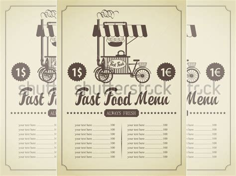 Fast Food Menu Template by Food Menu Template 36 Free Word Pdf Psd Eps