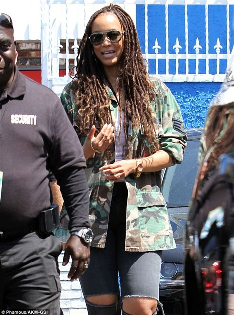 Supermodel Cbell Visits Chavez by Banks Sports Dreadlocks While Visiting Nyle Dimarco