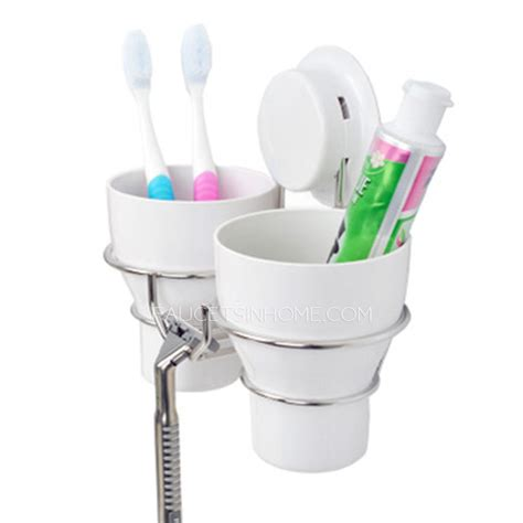 Wall Suction Toothbrush Holder white plastic wall toothbrush holder suction cups