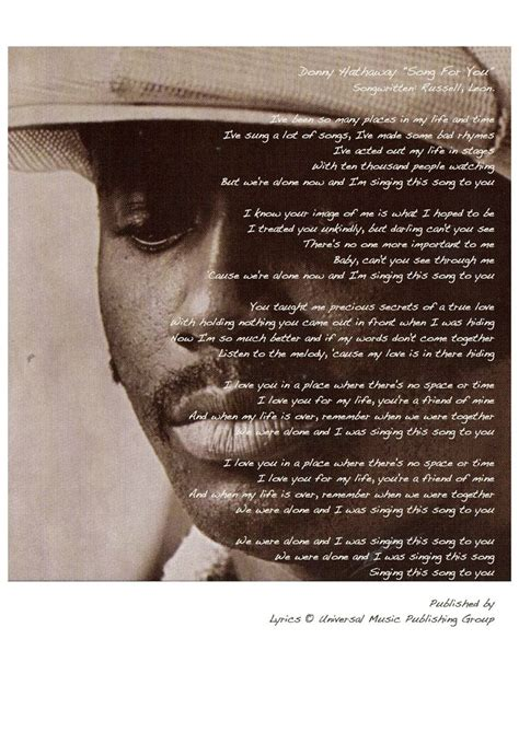 a song for you donny hathaway quot a song for you quot and quot i you more then