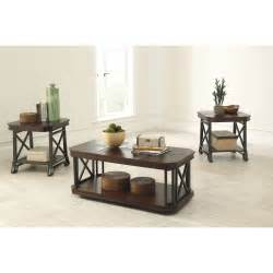 3 piece living room glass table set modern house
