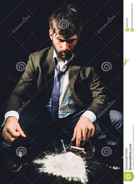 Cocaine Detox Time by Cocaine Addiction Stock Photo Image 59231236